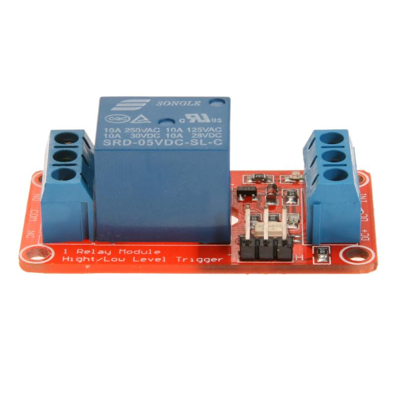 DC 5V One Way Relay Opto-Insulator High Low Level Trigger PLC Board Module Parts Component for Automatic Control 1 channel relay module interface board shield for arduino 5v low level trigger one pic avr dsp arm mcu dc ac 220v