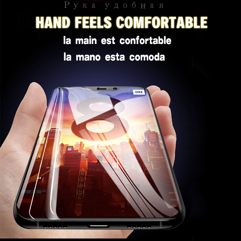 9D Tempered Glass on the For Xiaomi mi A2 Lite Glass mi 8 lite screen protector Full Cover For Xiaomi A1 5X 6X Protective film