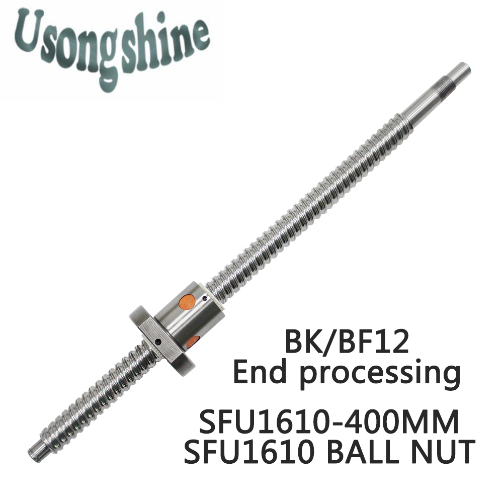 SFU1610 Ball Screw 16mm 1610 Rolled C7 ballscrew 400mm with one 1610 flange single ball nut for CNC parts machine SFU1610 сумка pieces pieces pi752bwzwk88