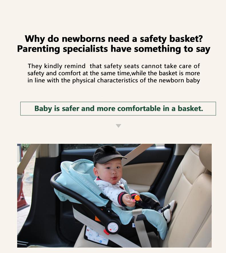 High Landscape Luxury Infant 3 in 1 stroller Baby Stroller Carriage Basket Four Wheels Stroller Baby Safe Seat
