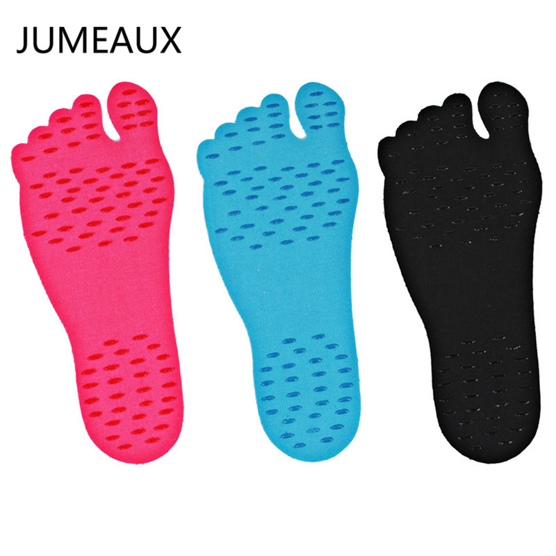 JUMEAUX Hot Walking Freely Beach Sole Adhesive Waterproof Socks Women Men Size S-XL (5 pairs/set)