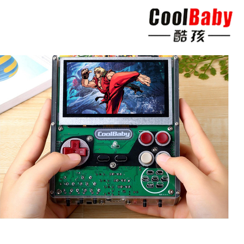 2018 new for coolbaby X7 4.3inch 8-bit full integration of nostalgic DIY hand-hard solution with gamepad Plug game card