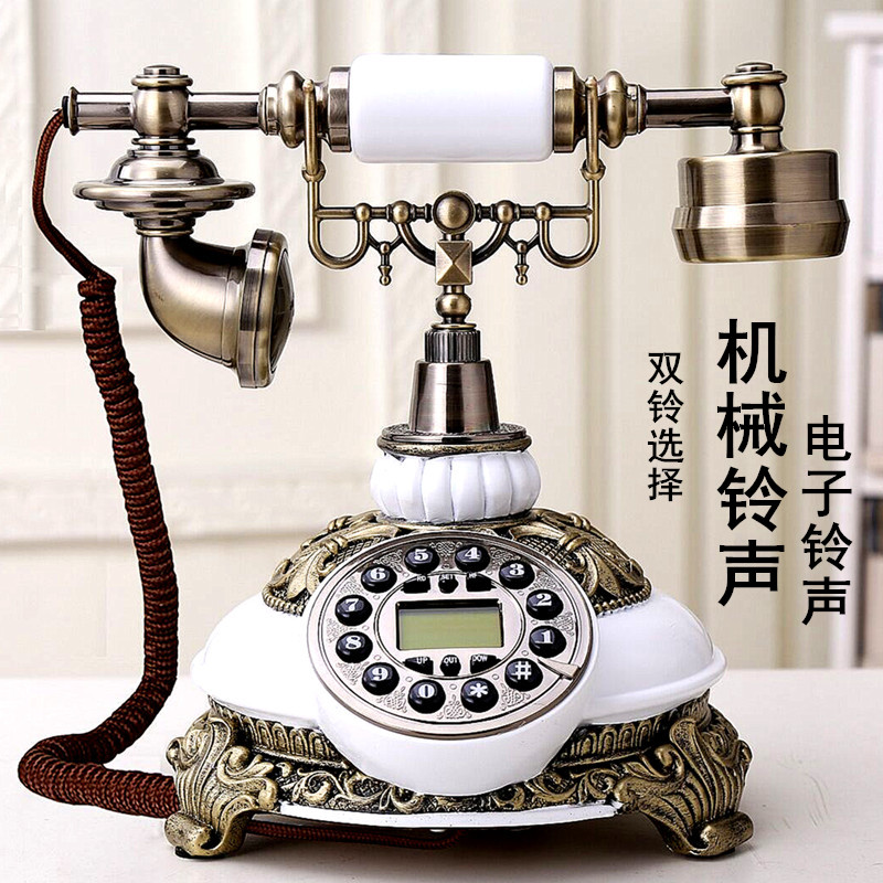 Ye are the top phone antique continental Retro Vintage telephone home office fixed landline phone Dial number Decoration home