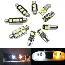 цена на 11pcs CANBUS Error Free LED Interior Light Kit Package for mercedes w203 accessories Dome reading lights 2000-2007 white