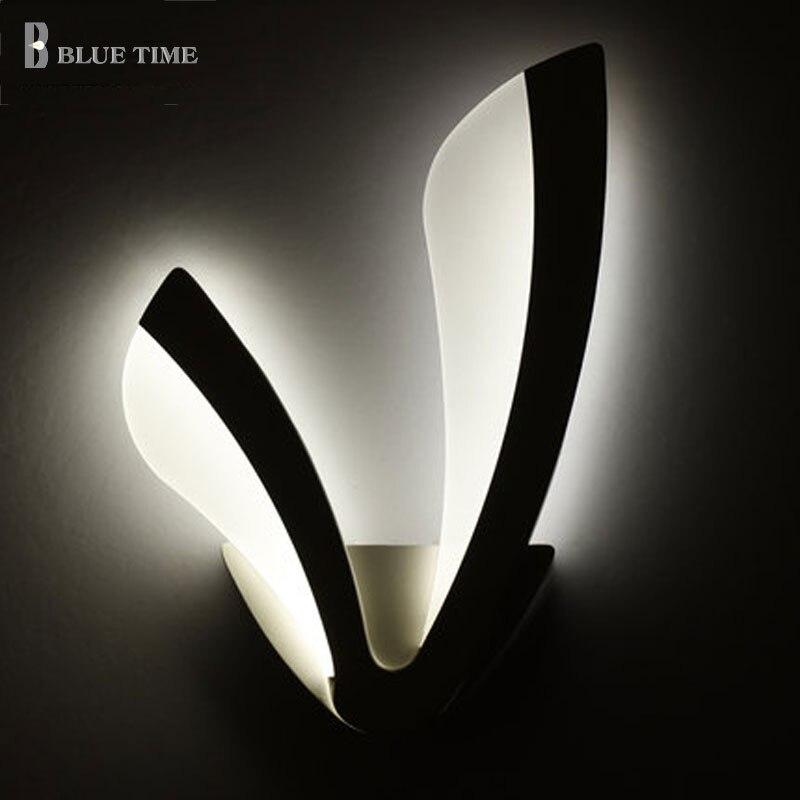 White Acrylic Modern Led Wall Light For Living room Bedroom Bedside room Wandlamp AC110V 220V 12W Sconces Led Wall Lamp Lustres