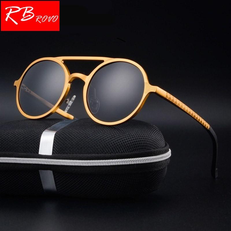 RBROVO 2018 Polarized Aluminum Magnesium Sunglasses Men Brand Design UV400 Classic Retro Metal Sun Glasses Outdoor Glasses HD