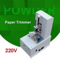 Oferta Máquina Eléctrica de esquina redonda 220V máquina automática de corte de papel de filete R3