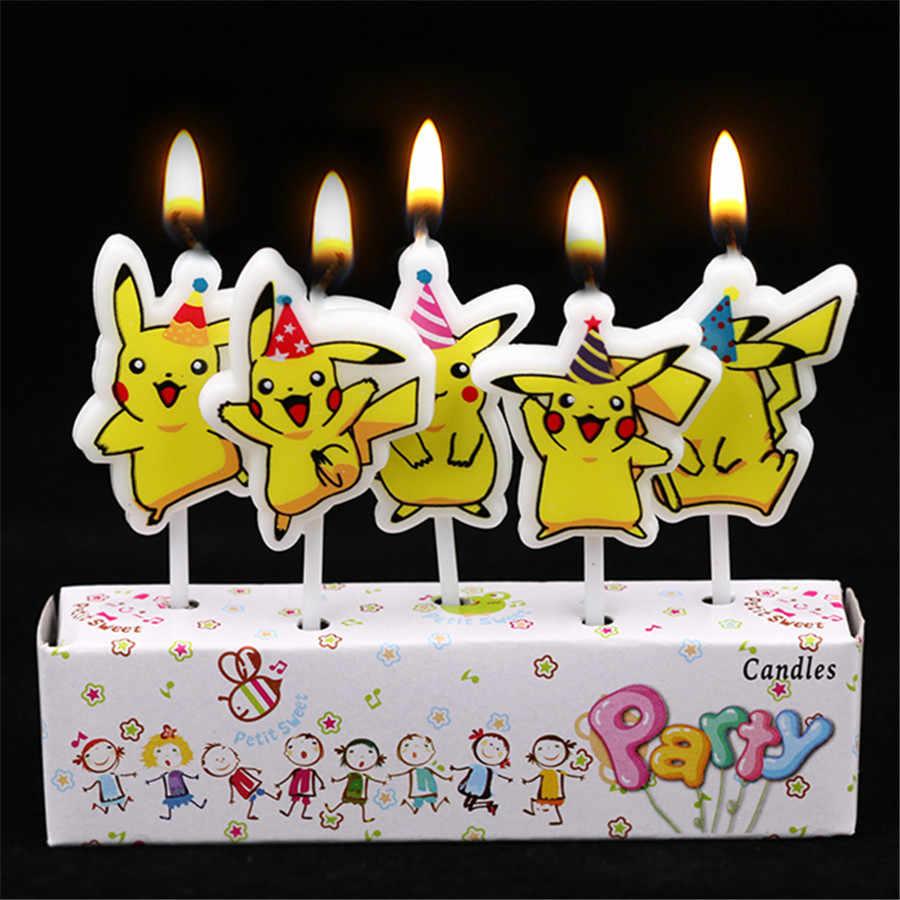 !ピカチュウ誕生日パーティーテーブルクロス紙ナプキンキャンディーボックスパンクキャンドルカップギフトバッグナイフフォークとスプーンテーマ