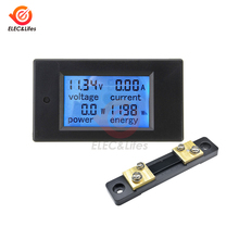 DC 6.5-100V ca 80-260V 20a 100a LCD digitale DC wattmetro voltmetro amperometro tensione corrente potenza watt contatore di energia Tester Shunt