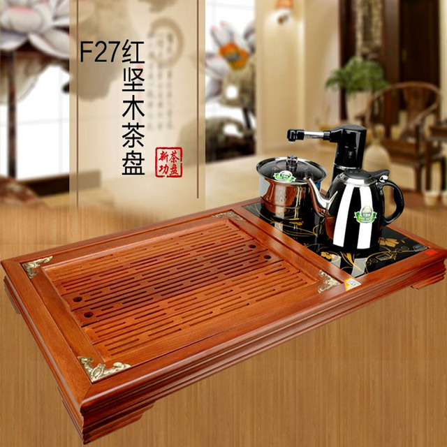 China Chinese Tea Set Brewing Used Wooden The Samovar Kung Fu Tea Table  Full Automatic Electromagnetic