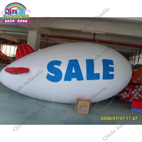 Free Shipping 13ft Inflatable Advertising Helium Balloon Giant Blimp Airship Airplane Balloon For Outdoor Event