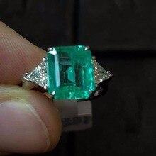 1,2 Арат изумруд 925 пробы серебряные кольца для женщин ювелирные изделия драгоценный камень подарок на день Святого Валентина вечерние Кольца Быстрая