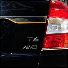 Metal plating AWD T5/T6 model cars to the rear of the trunk lid decorative stickers for volvo v60 s60 xc60 s80 v40 xc90 xc40