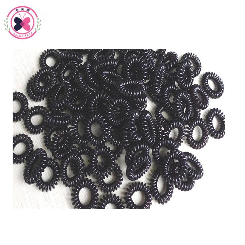 Haimeikang 20Pcs/lot Redom Mixed Color Fashion telephone wire hair band Elastic Hair Ring Gum For Hair Women Hair Accessories 50pcs lot mixed color