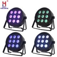 Led par quad 9x12 W waschen dmx par led rgbw 4in1 dmx led flach par licht led lampe (4 teile/los)-in Bühnen-Lichteffekt aus Licht & Beleuchtung bei