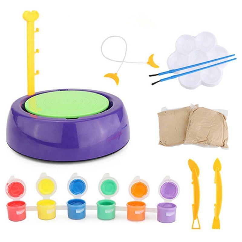 Mini Diy Handmade Ceramic Pottery Machine Pottery Wheels Kids Arts Craft Educational Gift Toy For Children