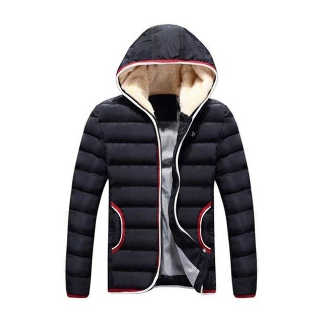Plus Size 2016 Ultra Homens Jaqueta de Inverno de Penas Luz Branco Quente pato Para Baixo Com Capuz Magro Dos Homens Jaquetas E Casacos Parka Preta