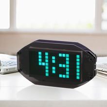DIY модуль черный цифровой светодиодный зеркальные часы матричный Настольный Будильник Электронный обучающий комплект модуль
