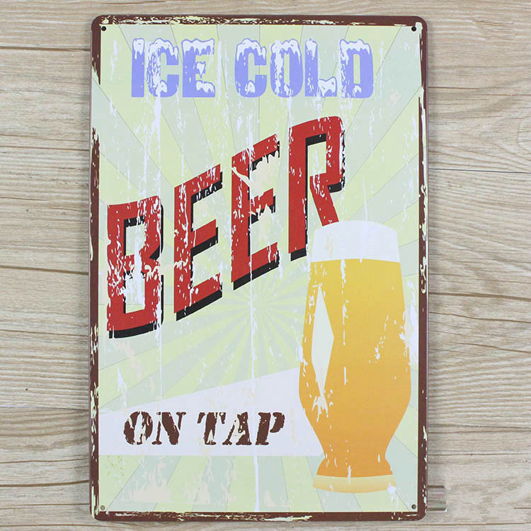 Direct selling YBY083 beer and wine Tin signs movie poster Art Cafe Bar Vintage Metal Painting wall stickers home decor 20X30CM