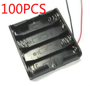 100 New 100 pcs AA Storage Battery Case Plastic Box Holder With 4 High Quality Hot