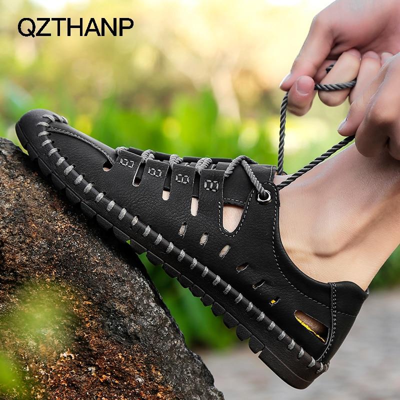 Image 5 - أحذية رجالي كاجوال من الجلد للصيف من Krasovki صنادل للرجال مزودة بنسيج شبكي يسمح بمرور الهواء أحذية رياضية للرجالأحذية رجالية عاديةأحذية -