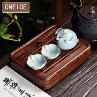 Kung Fu Tea Tray Trumpet Filled with water tray mahogany Tea Table Wenge wood Ebony Chinese Gongfu Trays