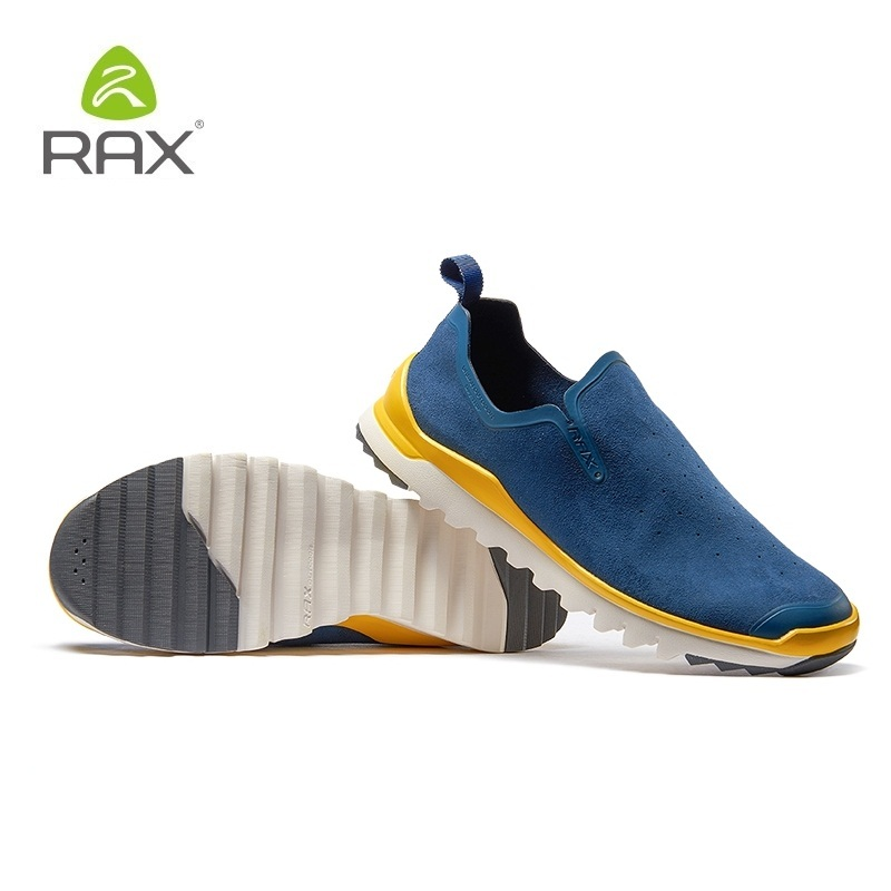 Rax amortissement extérieur chaussures hommes anti-dérapant randonnée chaussures hommes respirant sans lacet escalade chaussures sport athlétisme baskets # B2567