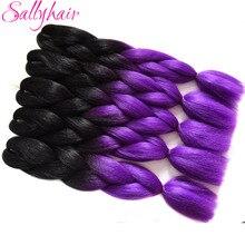 Sallyhair Braids Extension Purple