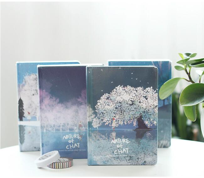 Nature Chat Hard Cover Journal Diary Blank Art Papers Notebook School Study Planner Notepad