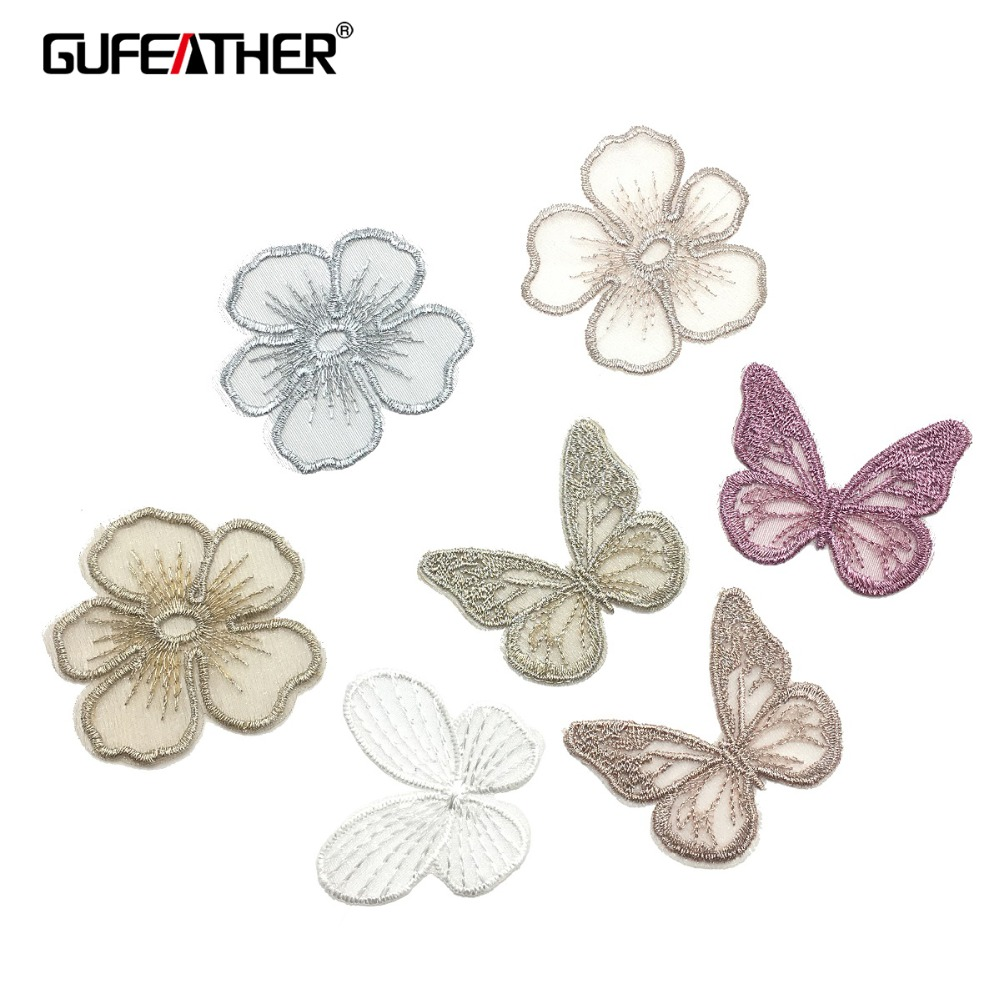 GUFEATHER M155,flower Butterfly Patch,diy Jewelry,hand Made,jewelry Findings,home Decorative,patches For Clothing,jewelry Making