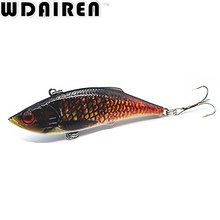 1pcs 8cm 11.8g VIB Lures Fishing Rattlesnake Lures Fishing Vibration For All Water Levels Wobblers Hooks Carp Fishing NE-389