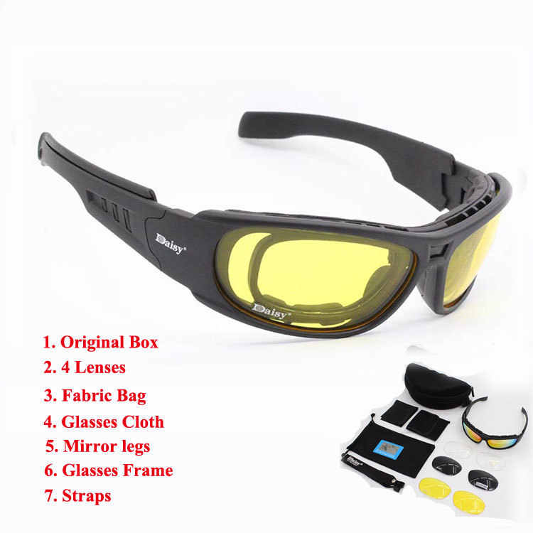 556b68d81a Daisy C6 Polarized Glasses CS Army Tactical Motorcycle Hunting Shooting  Airsoft Bullet-proof Military Goggles