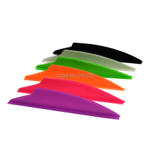 100 pcs 2.5 inch Plastic Dolphin Vane for Archery Arrow DIY Hunting outdoor – Free shipping