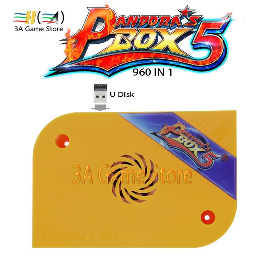 New Pandora Box 5 Arcade Version Pandora's Box 5 960 in 1 jamma multi arcade game pcb Board For controle arcade machine console цена