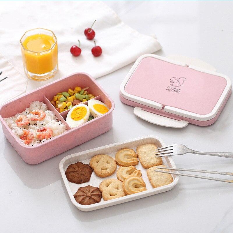 c9497401af46 1000 мл материал не вредит здоровью коробки для обедов пшеничной соломы  микроволновая печь контейнер для хранения