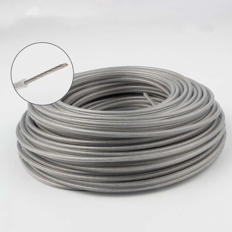 2.0/2.4/2.7/3.0mm Trimmer Wire Rope Cord Line Strimmer Brushcutter Trimmer Long Round Roll Grass Replacement Wire About 15M