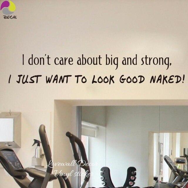 Gut Aussehen Nackt Gym Fitness Workout Büro Quote Wall Aufkleber