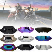 For Harley Electra Street Glide FLHX Touring 1996 2013 Smoke Clear Iridium Silver 5 8 Windshield