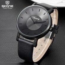 Skone 2017 nuevo creativo relojes de marca hombres mujeres moda casual sport reloj clásico reloj de cuarzo negro reloj de pulsera relogio masculino