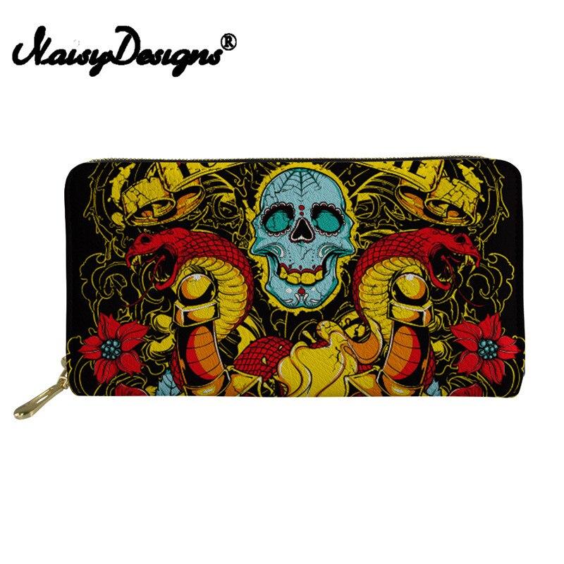 Noisydesigns Women Wallet Men Purse Skull Coin Purses&Holders Boy Mini Rfid PU Leather Wallets Female Purses&Wallets Coin Purse