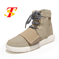 Fashion Men Casual Shoes Suede High Top Men Boots Breathable Flats Kanye West Shoes Lovers Footwear
