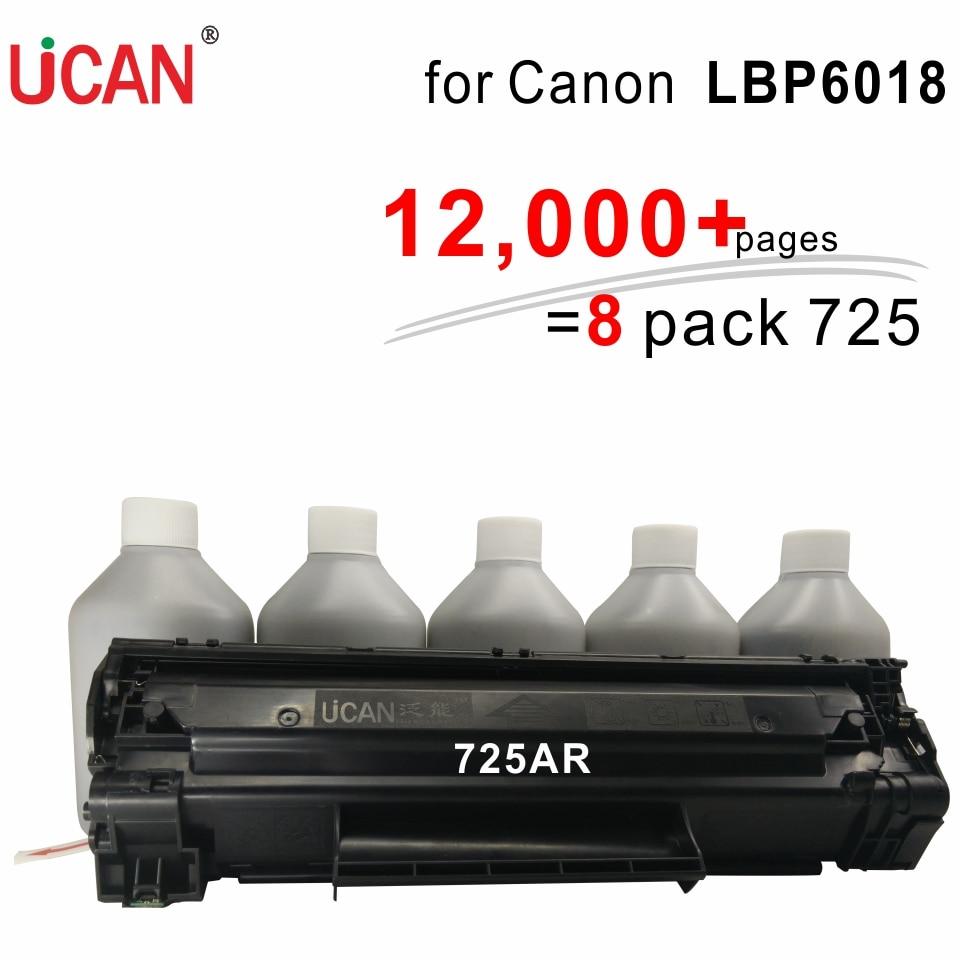 Galleria fotografica Pour <font><b>Canon</b></font> LBP 6018 UCAN CNTC (kit) 12,000 pages équivalent à 8-Pack ordinaire CRG 725 Laser De Toner Cartouches