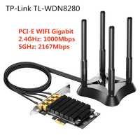 Tp-link PCI-E bezprzewodowy karta sieciowa PCI Express antena wifi adapter lan AC3200Mbps podwójny 2.4 GHz 5 GHz Gigabit Ethernet