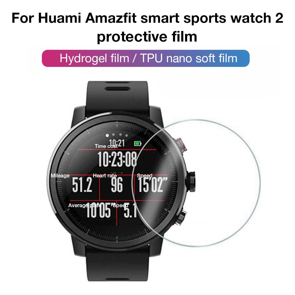 For Xiao Huami AMAZFIT Intelligent Sports Watch 2 Full Screen High Permeability Water Gel Film 3D HD Explosion-proof Anti-drop(China)
