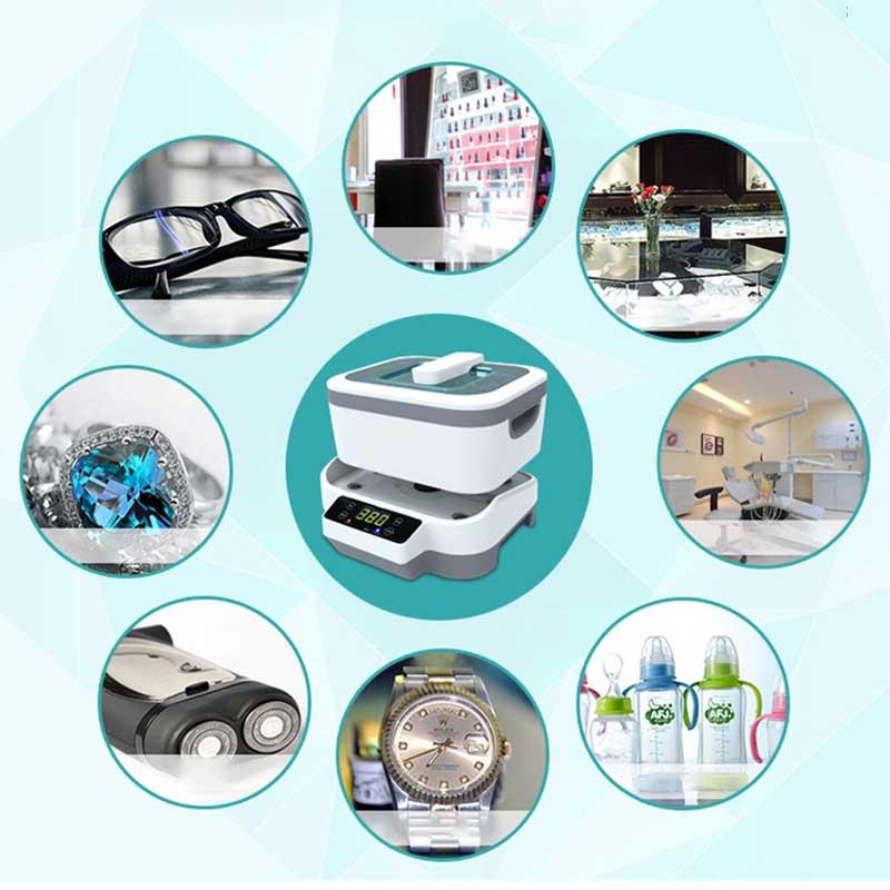 1200 мл цифровой ультразвуковой очиститель 60 Вт Сплит ультразвуковая Чистящая машина Профессиональный очиститель ювелирных часов оборудование для мойки - 5