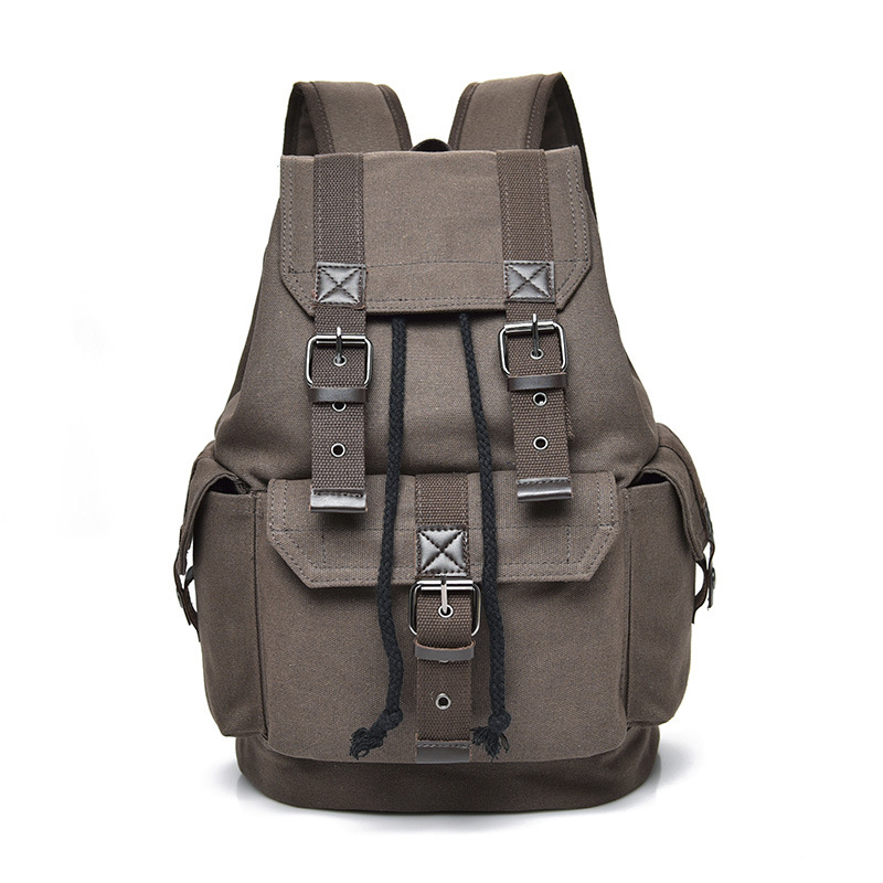 Men's Backpack Vintage Canvas Backpacks School Bag Men Travel Bags Large Capacity Bagpack Brand Sport Back Pack Bookbag Boy 2019