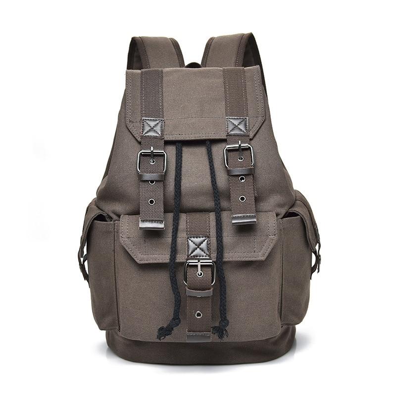 Men's Backpack Vintage Canvas Backpacks School Bag Men Travel Bags Large Capacity Bagpack Brand Sport Back Pack Bookbag Boy 2019