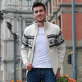 Men's Knitted Sweaters Cardigans Collar Winter Wool Sweater Fashion Cardigans Male Sweaters Coat Brand Men's  Clothing