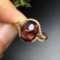 Joyería Fina anillos oro Real 18 K oro rosa AU750 100% Natural Brasil turmalina piedras preciosas anillos femeninos para mujeres finas anillo 4