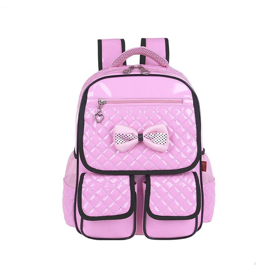 8fabe2db934ef 2019 جديد بو الجلود الوردي على ظهره الفتيات الحقائب المدرسية الأطفال  backapcks للمراهقات الكورية نمط ضوء الأزرق حقيبة طالب